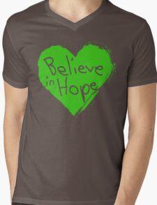 Believe In Hope Mens V-Neck T-Shirt