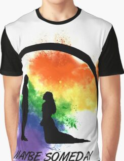 Clexa - Maybe Someday In Color Graphic T-Shirt