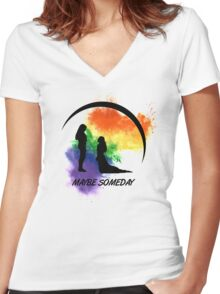 Maybe Someday In Color Women's Fitted V-Neck T-Shirt