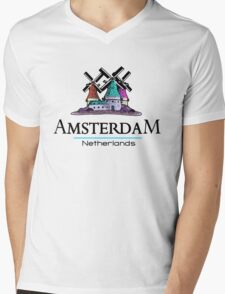 Amsterdam Mens V-Neck T-Shirt