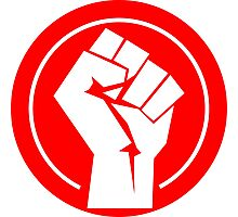 Clenched Fist Red Logo Photographic Print