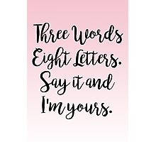 Gossip Girl - Three Words Eight Letters Photographic Print