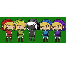 Legend of Zelda - Kawaii Chibi Links Photographic Print