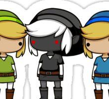 Legend of Zelda - Kawaii Chibi Links Sticker