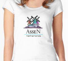 Assen, The Netherlands Women's Fitted Scoop T-Shirt