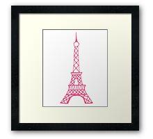 Pink Eiffel Tower Framed Print