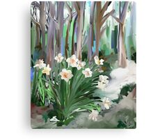 Narcissus in the Forest Canvas Print