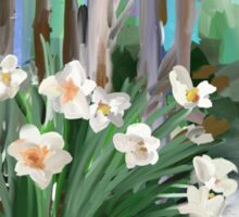 Narcissus in the Forest Sticker