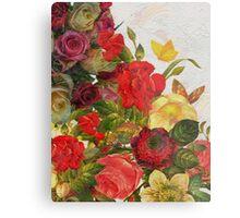 Beautiful Vibrant Vintage Flower Garden  Metal Print