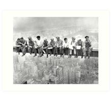 Empire State Building construction photos Art Print