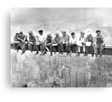 Empire State Building construction photos Canvas Print