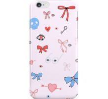 Simple Bows & Eyes iPhone Case/Skin