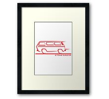 Speedy VW Vanagon Caravelle Transporter Kombi Windows Red Framed Print