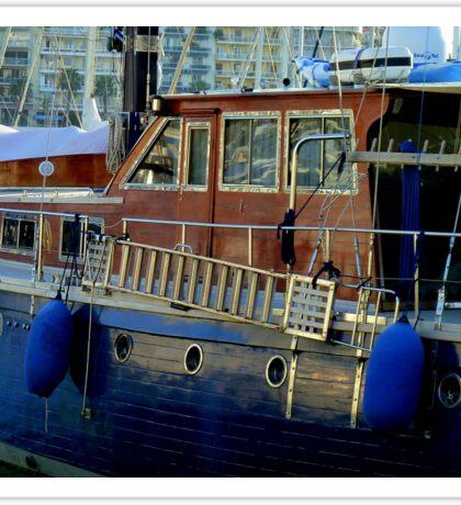 Greek boats in harbor Sticker