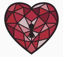 Jewel Heart One Piece - Short Sleeve