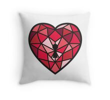 Jewel Heart Throw Pillow