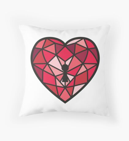 Jewel Heart Throw Pillow