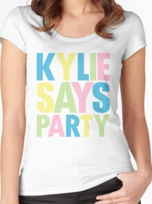Kylie Minogue - Kylie Says Party Women's Fitted Scoop T-Shirt