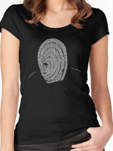 Obito Grunge The Letters Women's Fitted Scoop T-Shirt