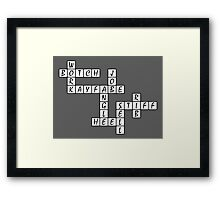 Wrestling Fan Crossword Puzzle Framed Print