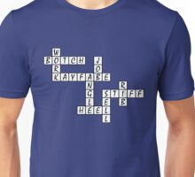 Wrestling Fan Crossword Puzzle Unisex T-Shirt