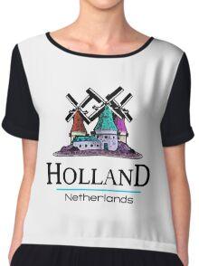 Holland, The Netherlands Chiffon Top