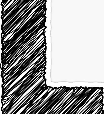 Sketchy Letter Series - Letter L Sticker