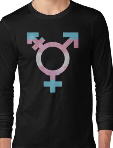 Trans Symbol Galaxy Long Sleeve T-Shirt