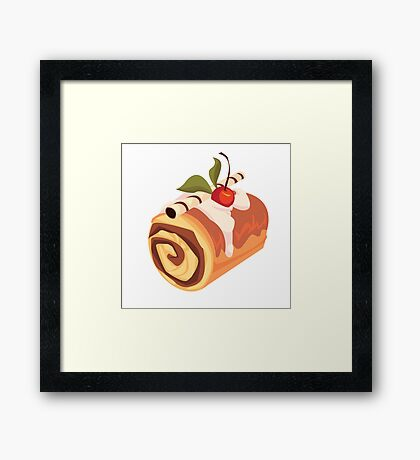 Chocolate and Cherry Dessert Roll Framed Print