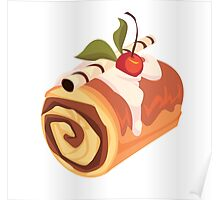 Chocolate and Cherry Dessert Roll Poster