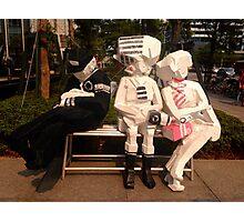 Taiwan - Taipei - goofy bench art Photographic Print