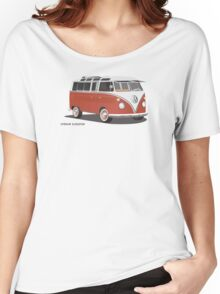 21 Window VW Bus Red/White  Women's Relaxed Fit T-Shirt