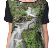 Wet Weather Cascades II Women's Chiffon Top