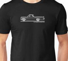 1959 1960 Chevrolet El Camino White on Black Unisex T-Shirt