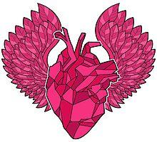 Origami Heart Photographic Print