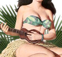 Tropicana Lounge Night Club Tropical Hula Girl 1 Sticker