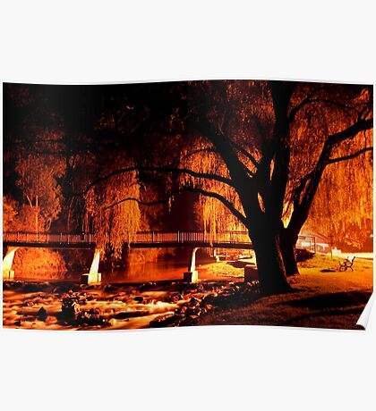 0081 Bright at Night Poster