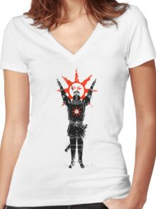 Traditional Solarius Women's Fitted V-Neck T-Shirt