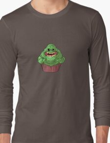 Slimer Cupcake Long Sleeve T-Shirt