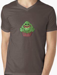 Slimer Cupcake Mens V-Neck T-Shirt