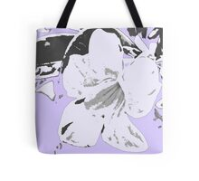 Vintage retro tropical floral violet black pattern Tote Bag