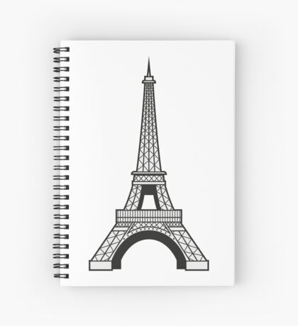 Eiffel Spiral Notebook