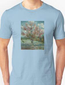 'Pink Peach Trees Souvenir de Mauve' by Vincent Van Gogh (Reproduction) T-Shirt