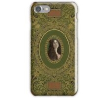 Vintage Book Cover and Woman's Portrait iPhone Case/Skin