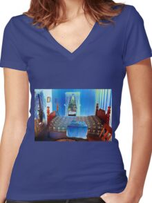 Were their dreams similar? Women's Fitted V-Neck T-Shirt