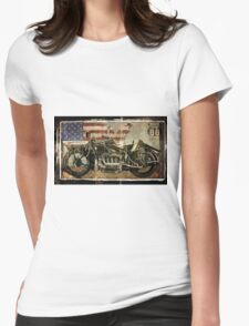 Road Warrior Vintage Motorcycle Unbound Womens Fitted T-Shirt