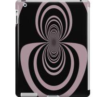 Black lavender mirror image abstract     iPad Case/Skin