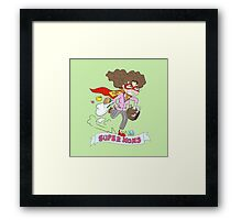 Mothers Day superheroes Framed Print