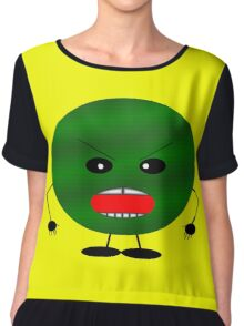 Angry Watermelon Chiffon Top