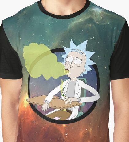 Spaced Rick - Rick and Morty Graphic T-Shirt